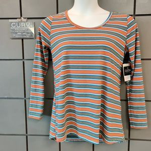 LuLaRoe Size M Striped Lynnae Long Sleeve NWT
